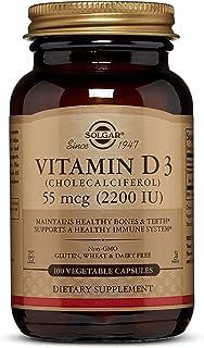 Solgar Vitamina D3 (Colecalciferol) 2200 UI (55 µg) Cápsulas vegetales - Envase