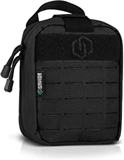 Savior Equipment Rip-Away Tactical MOLLE EDC Medical IFAK Empty First Aid Kit Pouch Multi-Purpose Lightweight Utility Waist Bag - Laser-Cut Style MOLLE