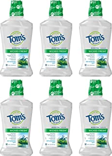 Sponsored Ad - Tom's of Maine Wicked Fresh! Mouthwash, Natural Mouthwash, Cool Mountain Mint, 16 Ounce, 6-Pack
