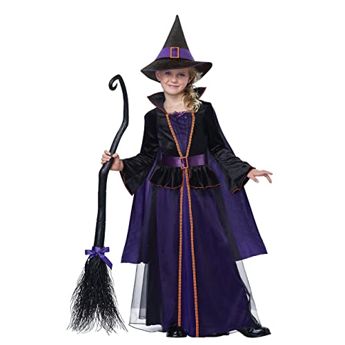 Cute Baby Toddler Purple Witch Costume Girls Childrens Halloween Fancy Dress
