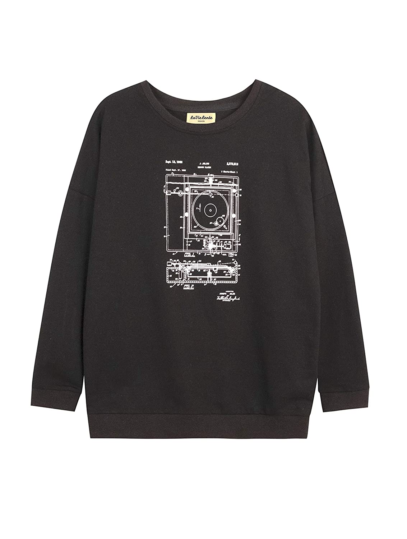 LaVieLente Women/'s Long Sleeve Graphic Cotton Sweatshirt Van Gogh Portrait