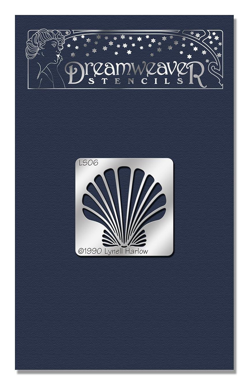 STAMPENDOUS DWLS06 Dreamweaver Stencil, Small Scallop Shell