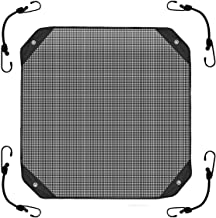 Air Conditioner Cover Sturdy,Leaf Guard Heavy Duty Mesh AC Defender for Outdoor Square Central Units, All Season Black (28 inch)