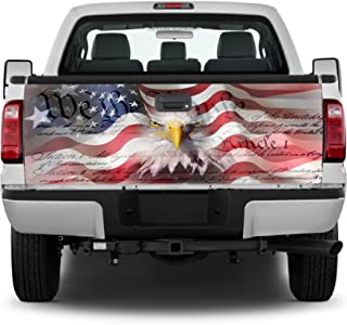 Crabtree Signs Amer Flag Eagle- We The People Tailgate Wrap Vinyl Graphic Decal Sticker Wrap