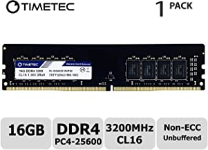 Timetec Extreme Performance Hynix IC 16GB DDR4 3200MHz PC4-25600 CL16 1.35V Unbuffered Non-ECC Dual Rank Designed for Gaming and High-Performance Compatible with AMD and Intel Desktop Memory (16GB)