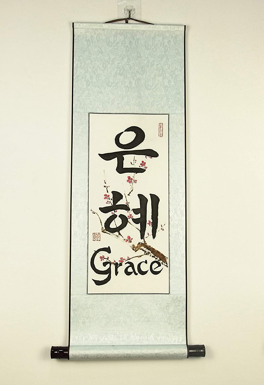 Korean Max 49% OFF Calligraphy Name Wall Art Custom in Max 55% OFF and Painted Hand Made