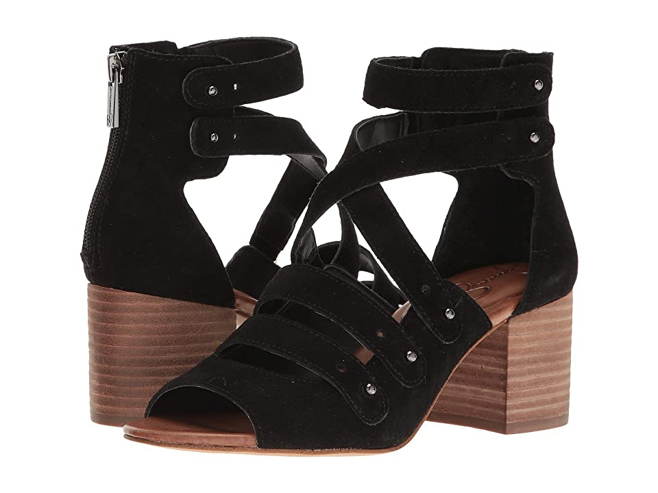 Jessica Simpson Halacie (Black Split Suede) Women