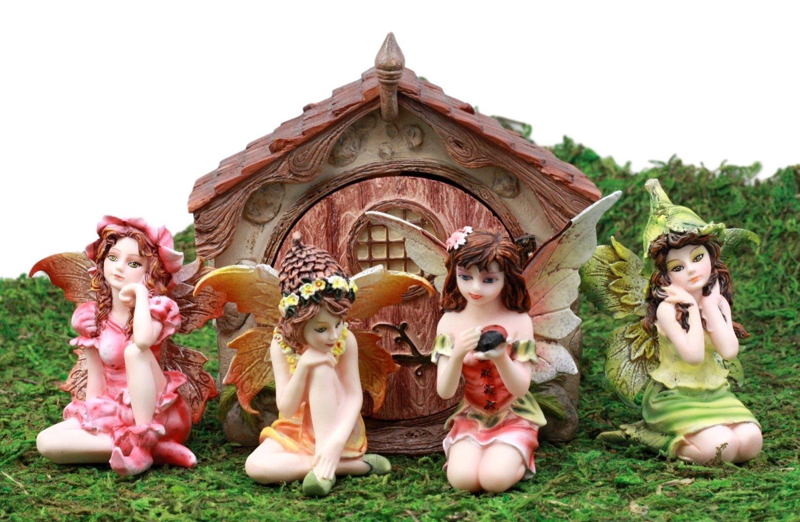 Ebros regalo encantado hada jardín miniaturas Starter Kit Casa de Paseo con mini figuras de hadas hacer usted mismo ideas para su hogar: Amazon.es: Juguetes y juegos