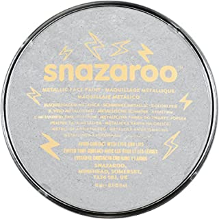Snazaroo 1118766 gezichtskleur, zilver-metallic, 18,8 g - schminkkleur