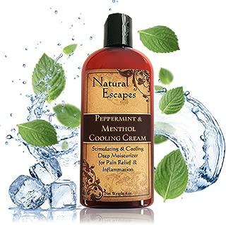 Organic Peppermint, Camphor & Menthol Cooling Cream | Natural Pain Relief Cream for Arthritis, Shingles, Foot Pain, Sciatica & More | Anti-Inflammatory Cream | 4 oz