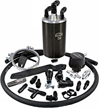Elite Engineering E2-X PCV Oil Catch Can and Hardware with Check Valve & Clamps (X2), and Clean Side Separator for Ultra Ford F150 Eco - KIT