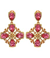 Oscar de la Renta - Runway Regal Drop C Earrings