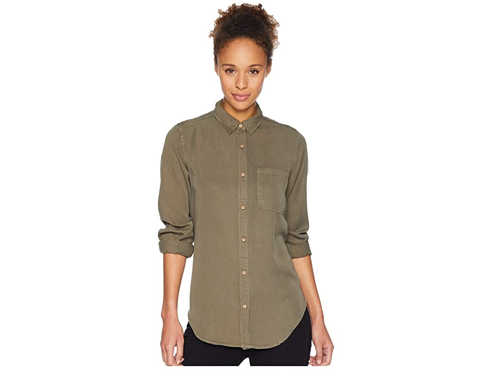 tentree Fernie Long Sleeve Button Up (Olive Night) Women