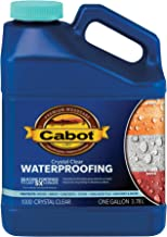 Cabot 31243 Crystal Clear Waterproofing Stain, 1 Gallon,