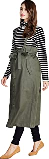 Sweet Mommy Maternity Maxi Jeans Skirt with Suspenders Straps