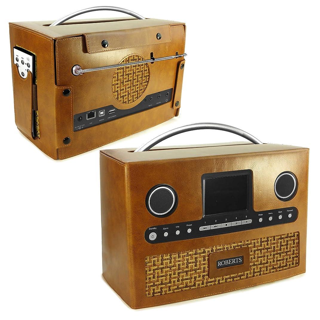 条約被る勇者Tuff-Luv Roberts DAB Radio Stream 93i Vintage Leather Case Brown [G4_75]