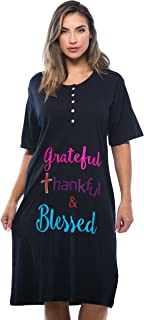 Short Sleeve Nightgown Sleep Dress for Women Sleepwear