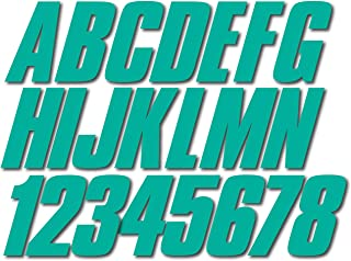 Stiffie Shift Sea Teal 3 ID Kit Alpha-Numeric Registration Identification Numbers Stickers Decals for Boats & Personal Watercraft