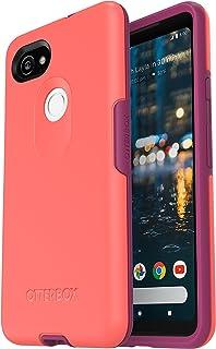 OtterBox Symmetry Series Case for Google Pixel 2 XL - Retail Packaging - Summer Melon (Flamingo Pink/Baton Rouge)
