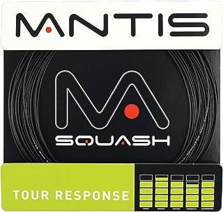 Mantis Tour Response Squash Racket String - 17LG 10m Black