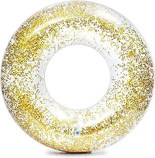 Bóia Glitter, Intex, Transparente, Pacote de 1