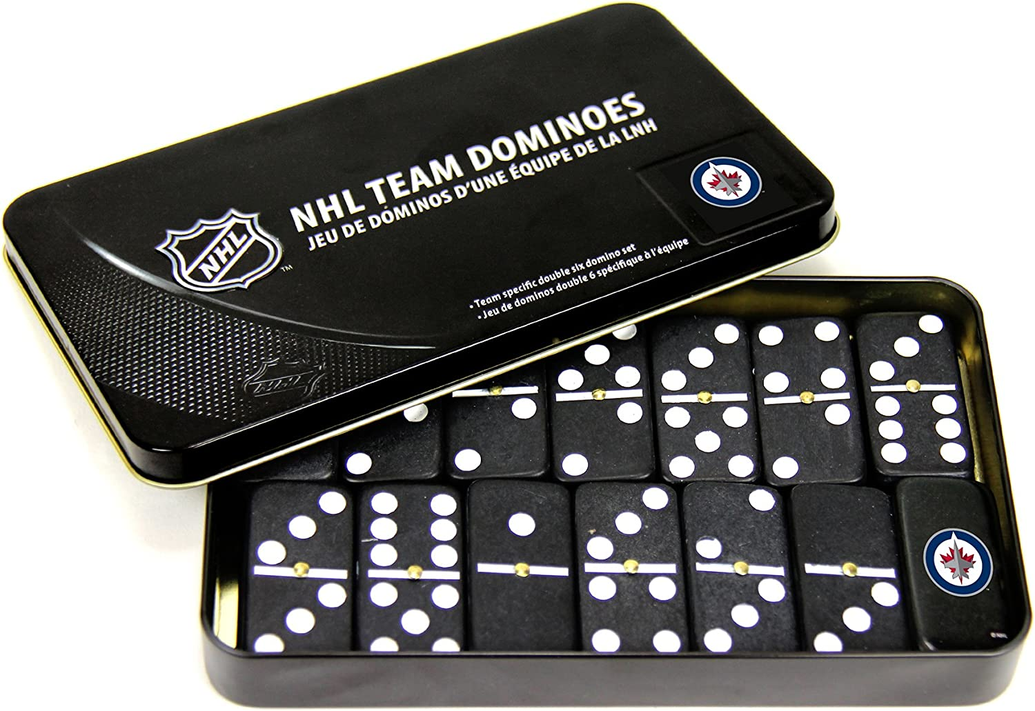 NHL Winnipeg Jets Domino Set in Metal Gift Tin