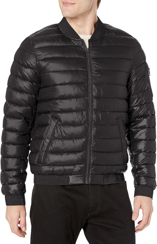 GUESS Men's Light Weight Bomber Puffer Jacket