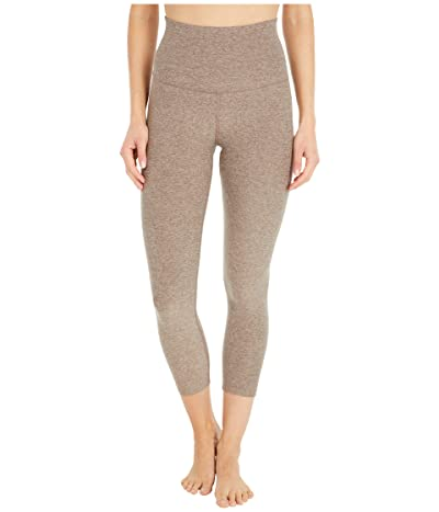 Beyond Yoga Spacedye High Waisted Capri Leggings (Mocha/Latte) Women