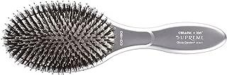 Olivia Garden Ceramic + IonTM Supreme Combo 100% Boar & Nylon - Silver Paddle Hair Brush - Anti-Static & Tourmaline-Ion
