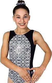 Snowflake Designs Bizarre Black and White Leotard |Girls |Gymnastics or Dance