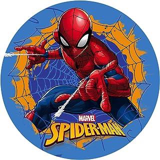 Dekora- Decoracion Tartas de Cumpleaños Infantiles en Disco de Oblea de Spiderman-20 cm (114398)