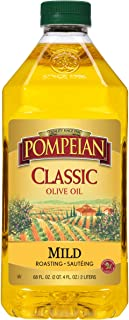 Pompeian Classic Olive Oil, Mild Flavor, Perfect for Roasting and Sauteing, Naturally Gluten Free, Non-Allergenic, Non-GM...