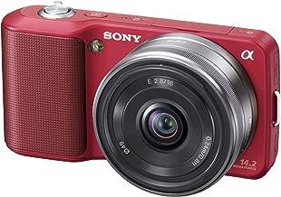 Sony Alpha NEX NEX3A/R Digital Camera with 16mm F2.8 Lens (Red)