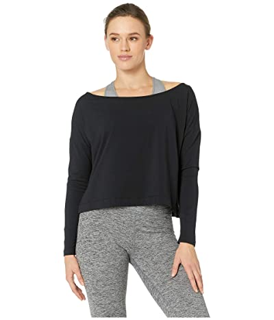 manduka Adorn Boxy Top (Black) Women