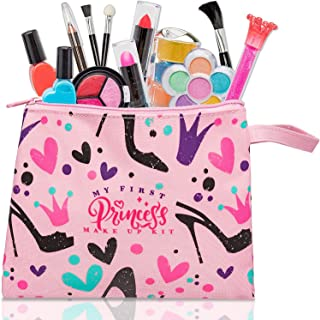 FoxPrint My First Princess Make Up Kit - 12 Pc Kids Makeup Set Washable Makeup For Girls These Makeup Toys for Girls Inclu...