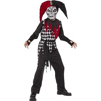 Halloween - Disfraz de Arlequín Malvado para niños, infantil 5-7 ...