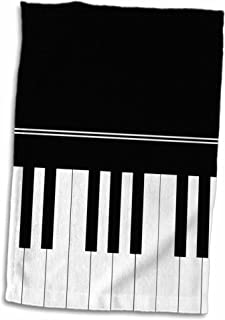 3D Rose Piano Keyboard-Black and White Keys Design-Pianist M