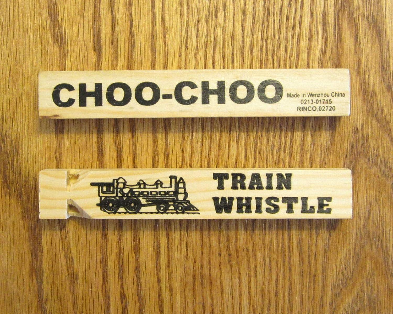 60 Wooden Toy Train Whistles Locomotive Railroad Choo Wood Max 78% OFF 6.75