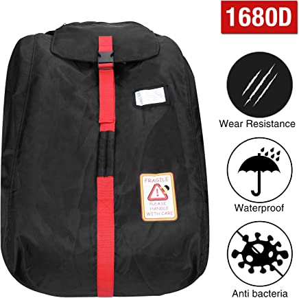 Modokit 1680D Durable Car Seat Travel Bag Backpack, Airplane Gate Check Bag with Storage Pouch