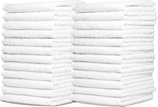Royal Zeppoli Auto Shop & Car Wash Towels - 36 Pack - 100% Pure White Cotton - 14 x 17 Commercial Grade and Absorbent - Can be Used for Drying, Home Cleaning, or Bathroom Wash Cloths