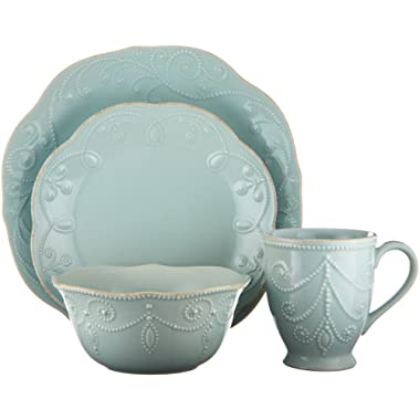 Lenox 824431 French Perle 4-Piece Place Setting, Ice Blue