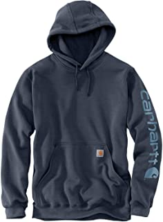 Carhartt Men's Midweight Sleeve Logo Hooded Sweatshirt...
