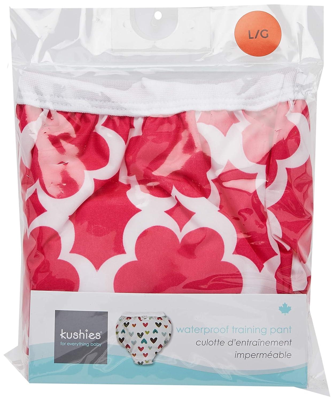 Kushies Baby Waterproof Training Pant (33-38 Pounds), Fuchsia Modern Flowers, X-Large