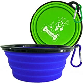 Mr. Peanut's XL Collapsible Dog Bowls – 2 Pak – Extra Large 34oz,..