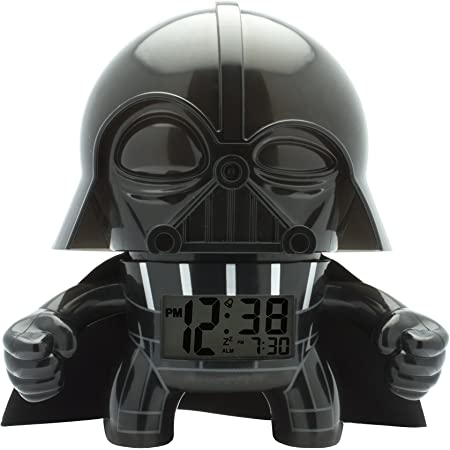 BulbBotz Réveil lumineux Dark Vador Star Wars enfant   noir/gris   plastique   hauteur de 19cm   écran LCD   garçon/fille   produit officiel