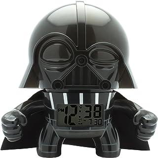 BulbBotz Despertador con luz Infantil Figurita de Darth Vader 2020008 de La Guerra de Las Galaxias|Negro/Gris|Plástico|19 cm de Altura|Pantalla LCD|Chico Chica|Oficial
