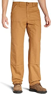 Carhartt Pants Double Front Duck Dungaree Work Pants B136BRN-31x30 - Brown