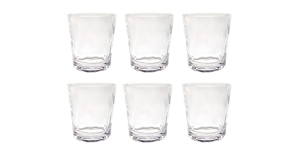 Acrylic Plastic Double Old Fashioned Tumbler Set of 6 Clear CG142-CL QG 14 oz