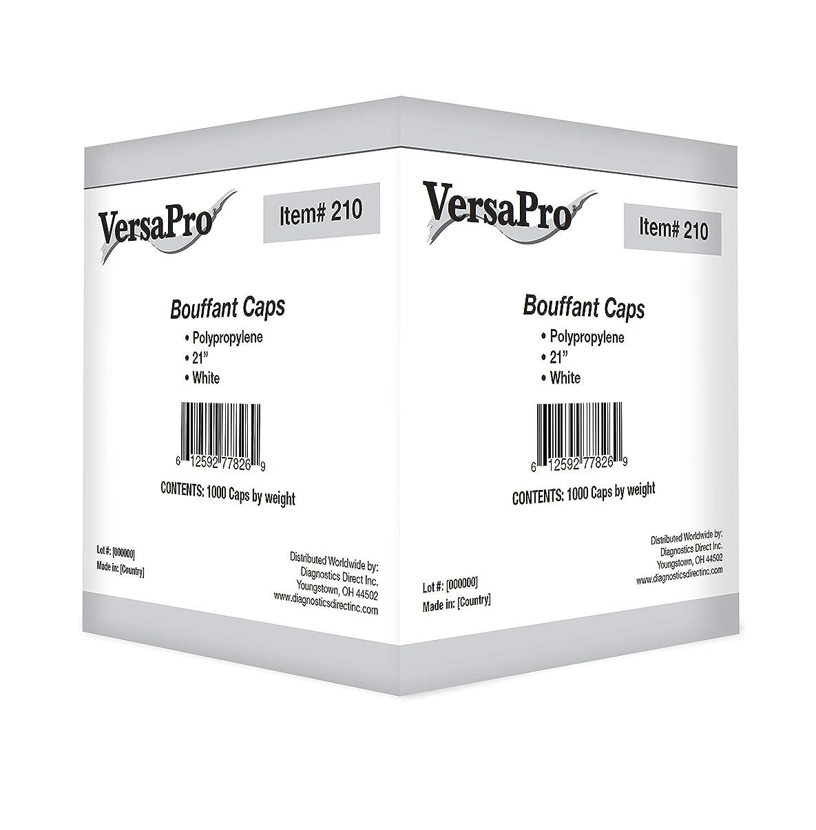 Disposable Hair Net, Spun-Bonded Polypropylene, White, 100 per Bag (Case of 1000)