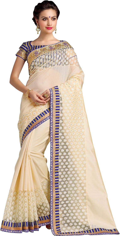 Rajshri Fashions Women's Silk Saptrangi Saree With Indian Embroidery Work